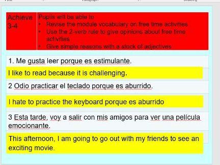 AQA GCSE Spanish 2016 Que te gusta hacer