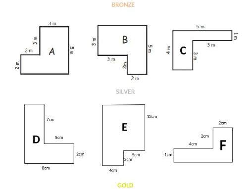KS2 Perimeter of rectilinear shapes