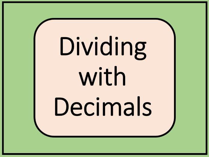 Decimal Division Complete Lesson
