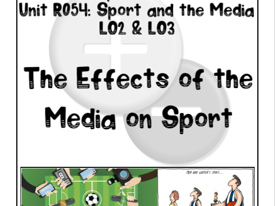 OCR Sports Studies R054 Sport and the Media LO2&3 Bundle