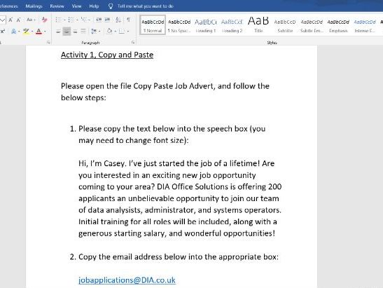 ICT  Cut, Copy, and Paste in Microsoft Word