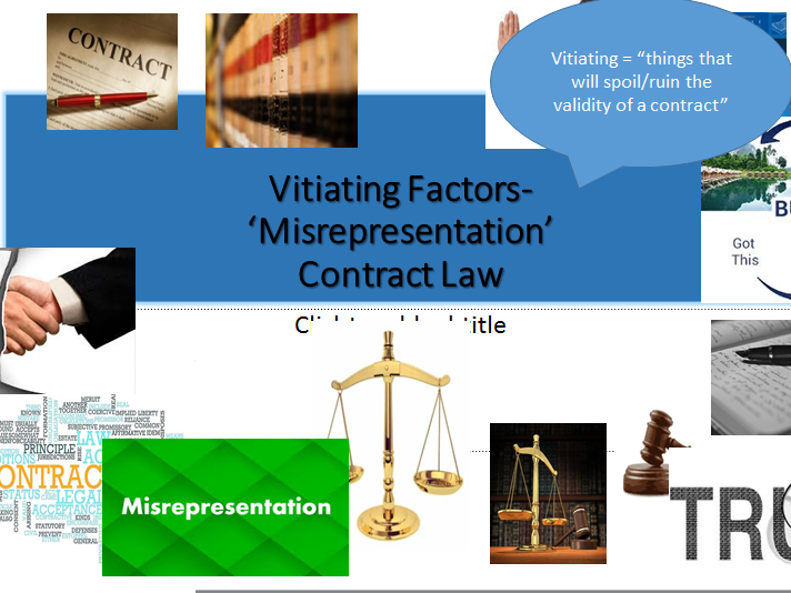 Contract Law-A-level (OCR NEW SPEC)- Misrepresentation -Lesson & Notes