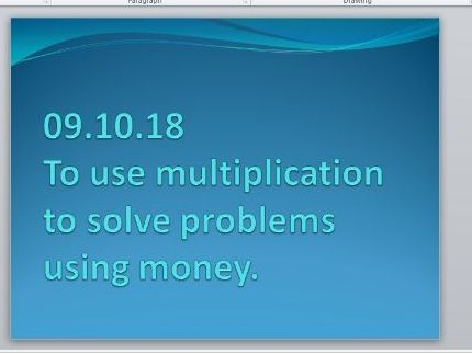 Multiplication Problems Using Money KS2