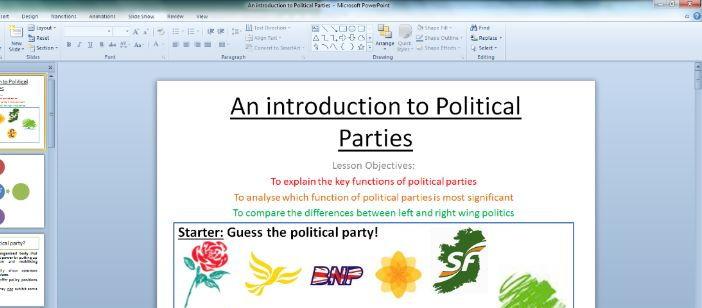 Political Parties NEW SPEC 2017