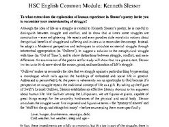HSC Texts and Human Experience Sample Essay & Essay Analysis: Kenneth Slessor 2