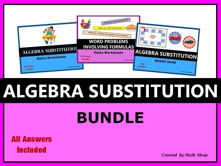 Algebra Substitution Bundle