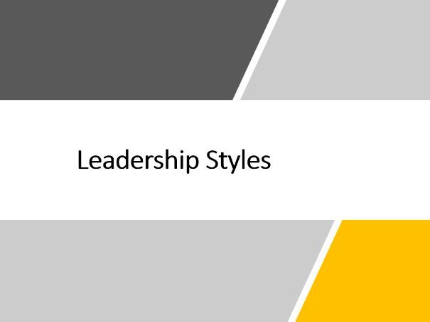 A-Level - OCR - Leadership Styles PowerPoint