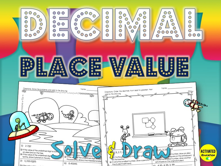 Decimal Place Value Solve & Draw Activity
