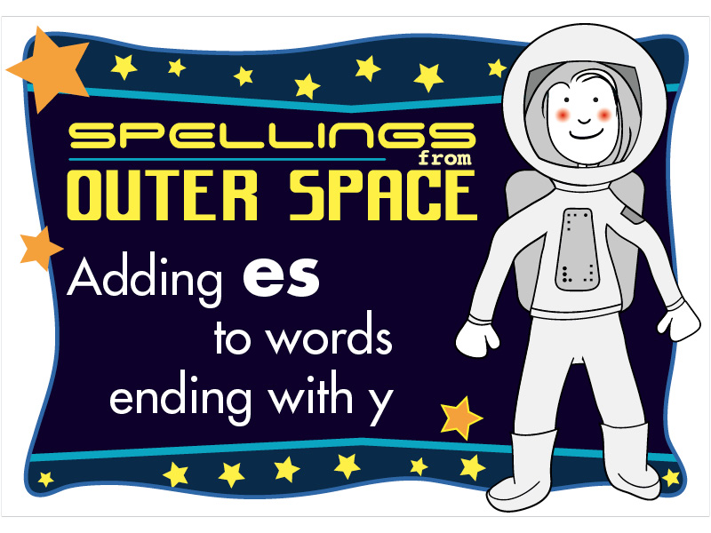Year 2 Spellings Adding ES to words ending with Y