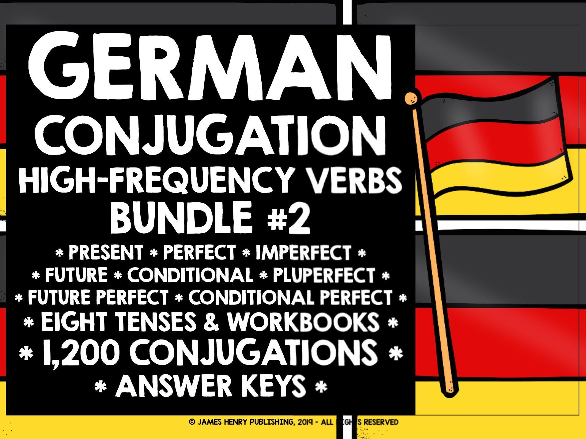 GERMAN HIGH-FREQUENCY VERBS CONJUGATION BUNDLE #2