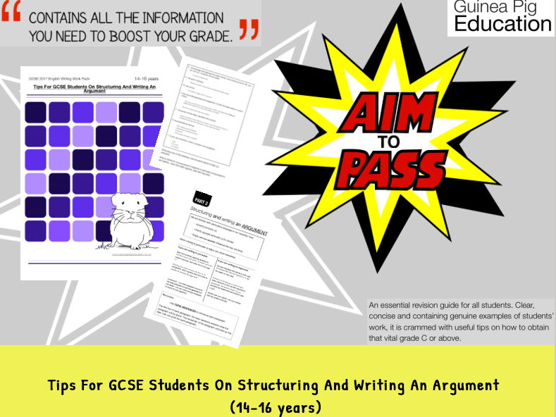 Tips For GCSE Students On Structuring And Writing An Argument (GCSE English Writing Work Pack)