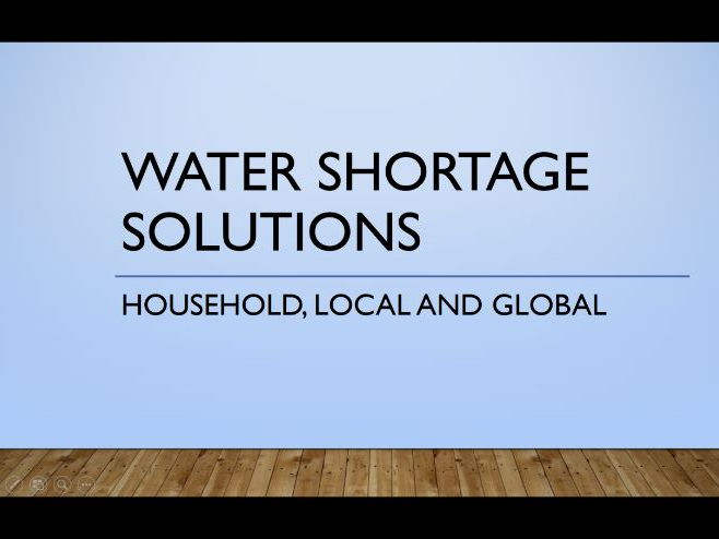 water shortage solutions powerpoint by leoniedebnam