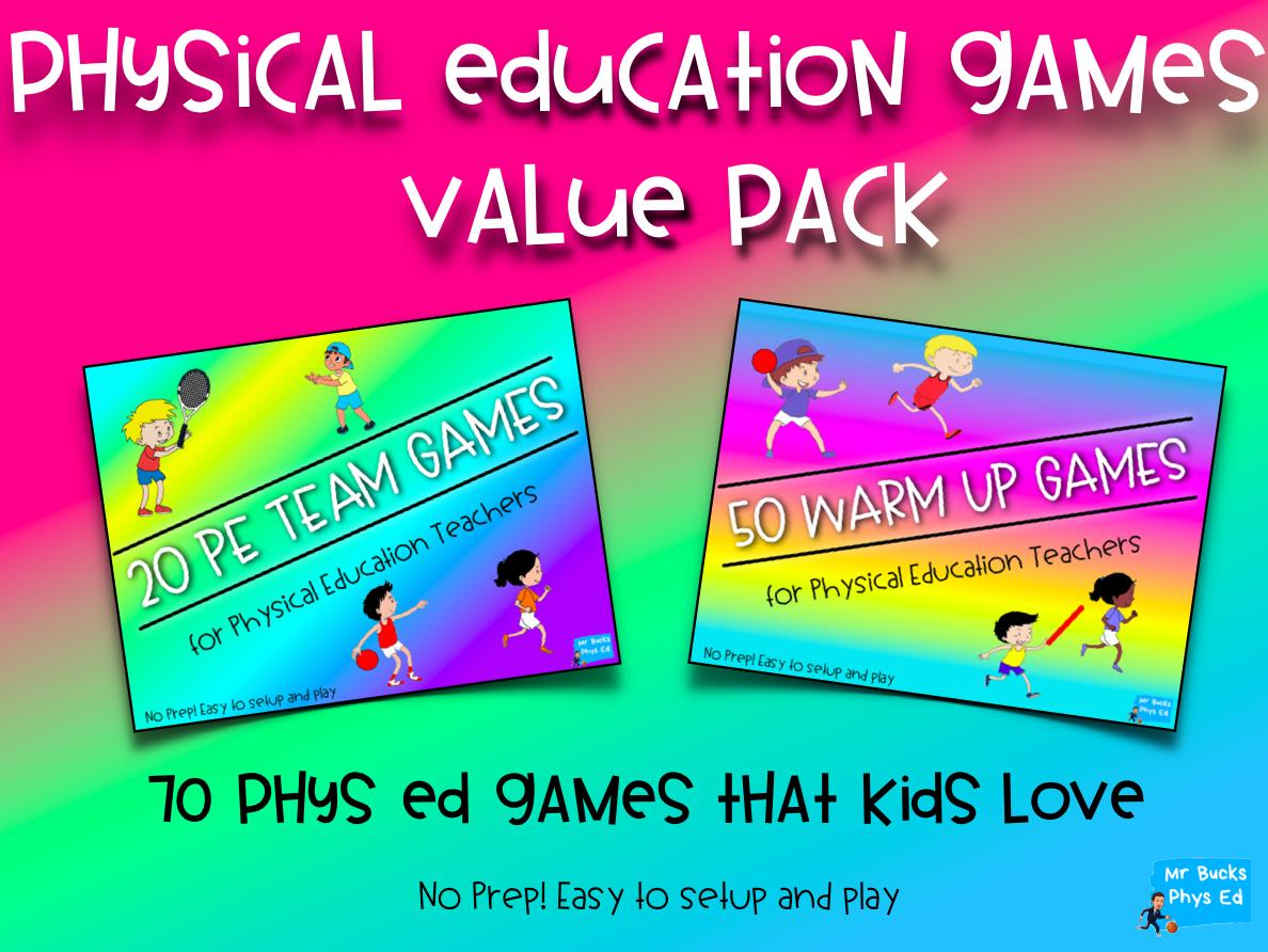 Phys Ed Games Bundle - 20 Team Games & 50 Warm Up Games