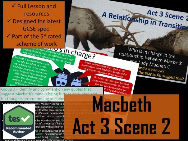 Act 3 Scene 2 Macbeth GCSE English Literature 9-1