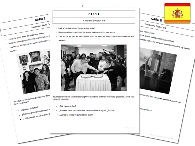 120 High Quality Spanish GCSE Photocards for AQA