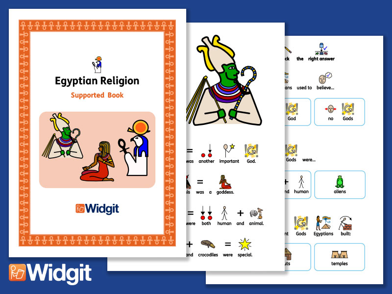 Egyptian Religion - History Book and Activities with Widgit Symbols