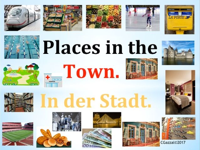 German – Places in the Town/ In der Stadt.