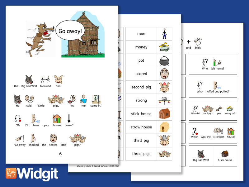 Three Little Pigs - Story Pack with Widgit Symbols