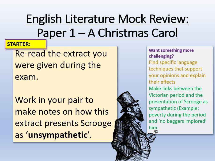 A Christmas Carol - Mock Exam Review