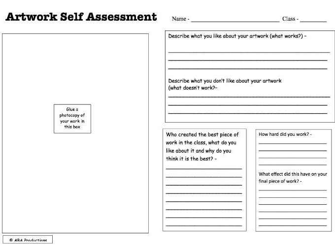 Artwork Self Assessment