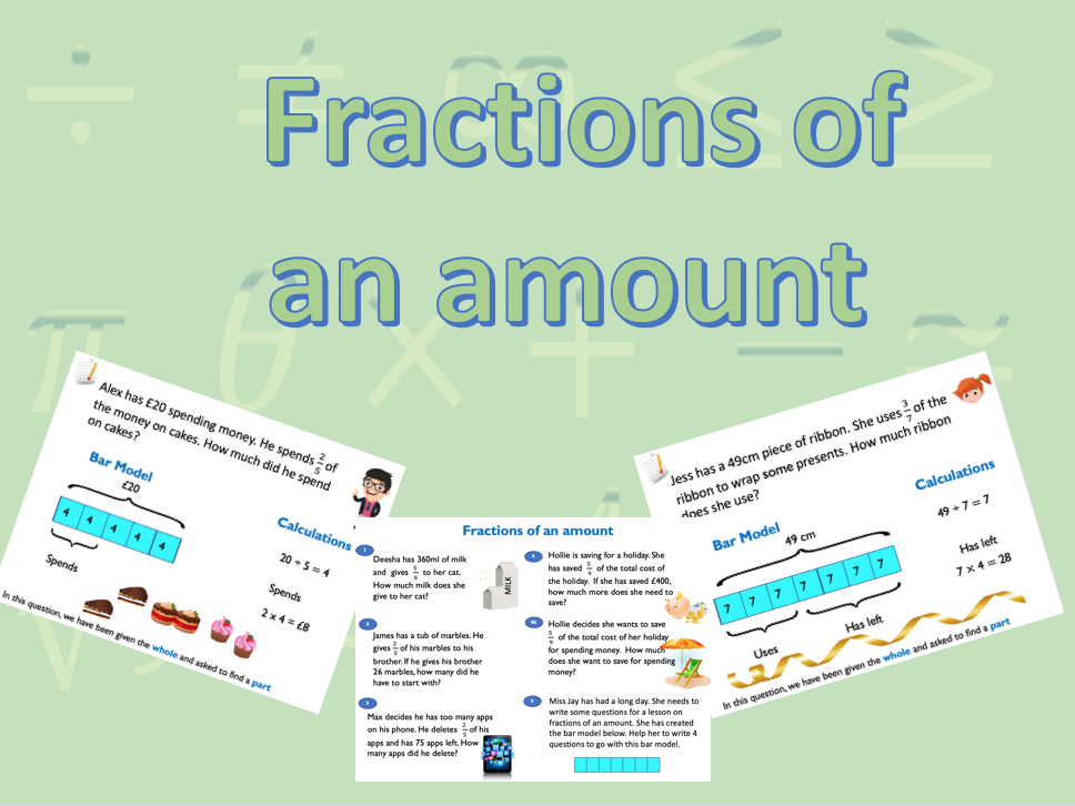 Fractions of an amount