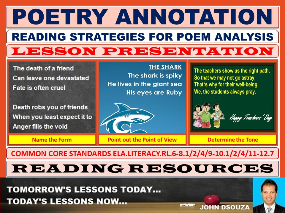 POETRY ANNOTATION LESSON PRESENTATION