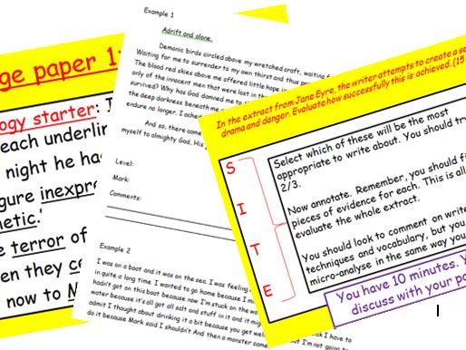 Edexcel Language Paper 1 SOW