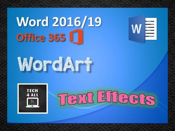 Microsoft Word: WordArt