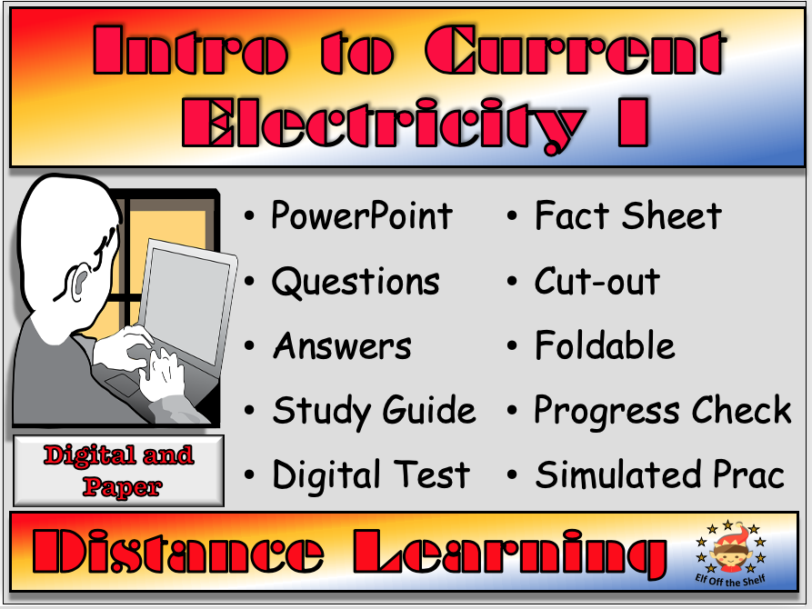 Current Electricity Intro 1 - Distance Learning or Homeschool for KS3