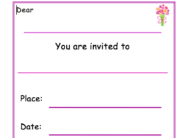Mother's Day class assembly invite
