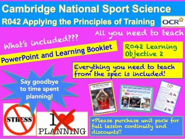 Cambridge National Sports Science R042: Learning Objective 2