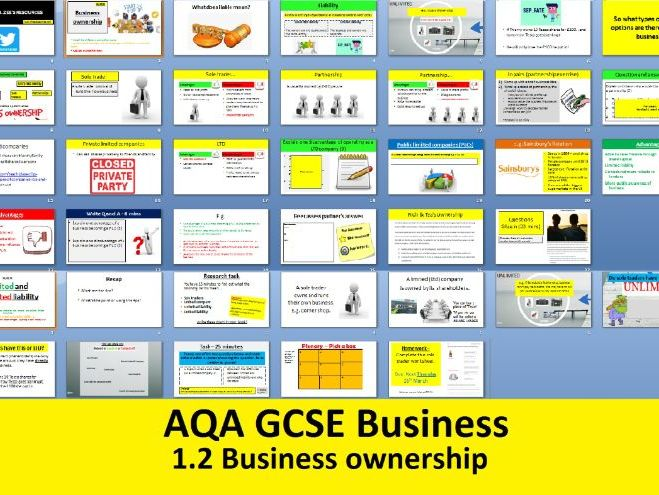 AQA GCSE Business 9-1 - 1.2 Business ownership