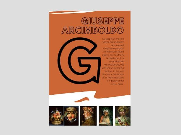 Artist A to Z | G |  Giuseppe Arcimboldo | Found Materials Portraits