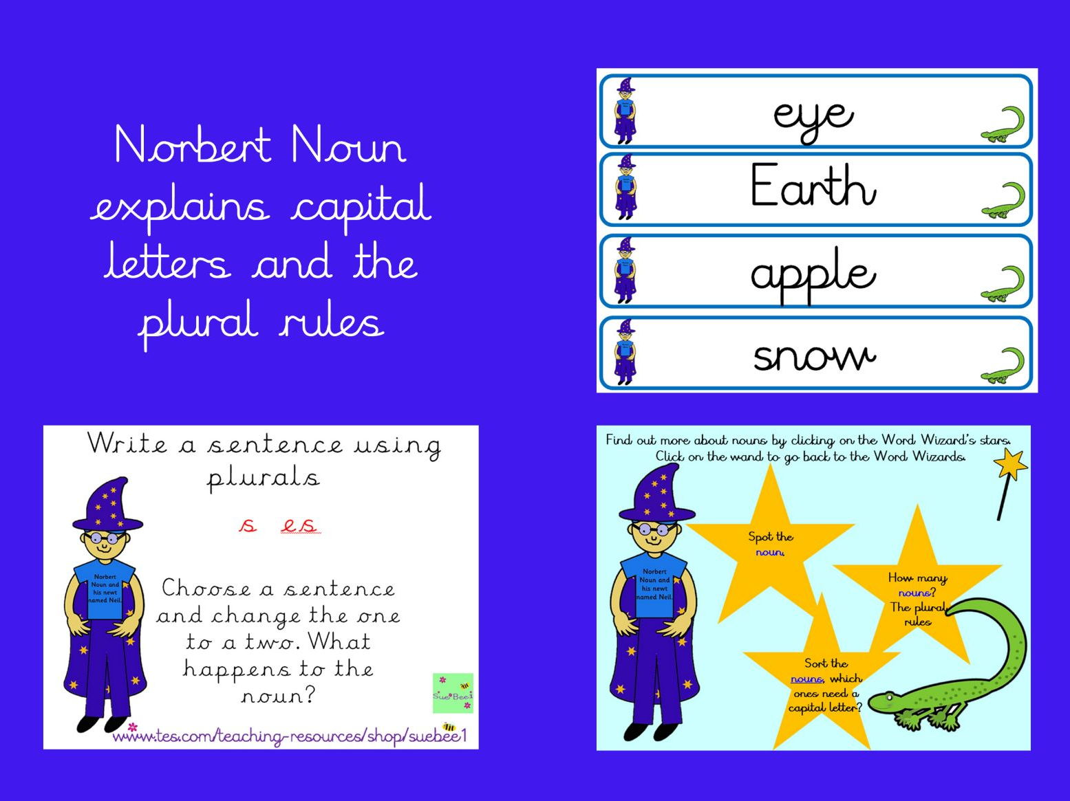 Nouns, capital letters and plural rules