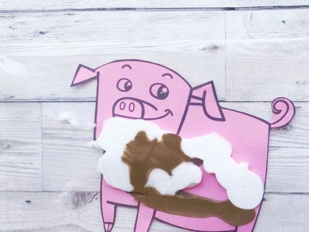 Blank Pig Template - Farm Theme
