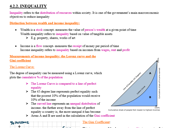 Full Notes for Theme 4 Edexcel Economics A