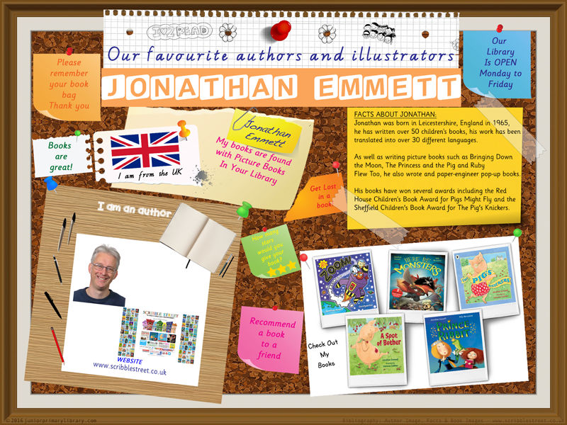 Library Poster - Jonathan Emmett UK Author Of Picture Books