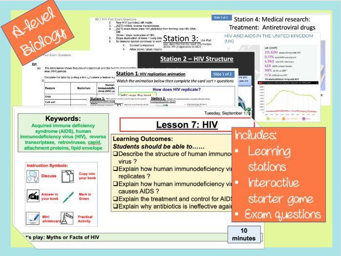 B5.7 - HIV AQA Lesson