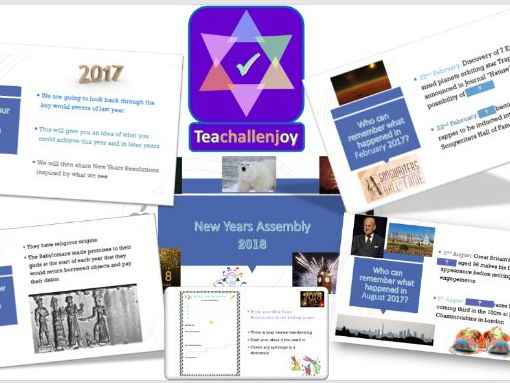 New Year Assembly/Lesson 2018 - Review of 2017 & Looking Forward Pack