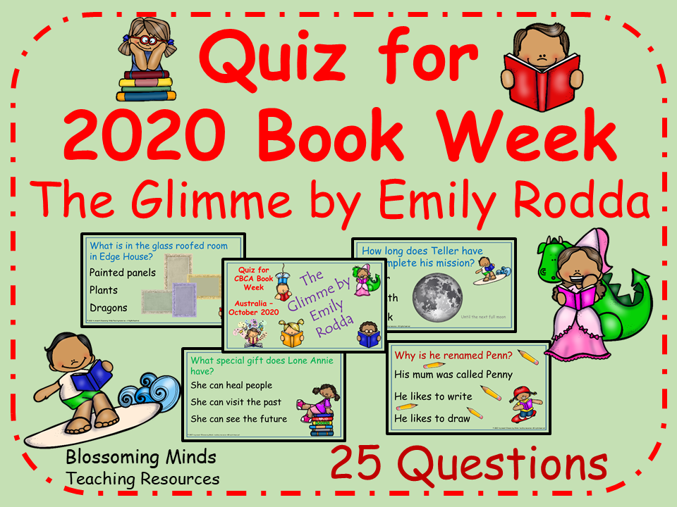 Quiz for CBCA Book Week 2020 : The Glimme by Emily Rodda - 25 questions