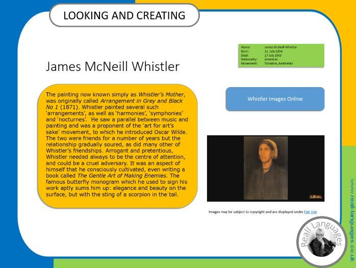 James McNeill Whistler.  Looking and Creating: activities inspired by artists
