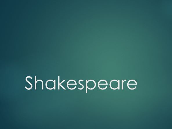 Introduction to Performing Shakespeare