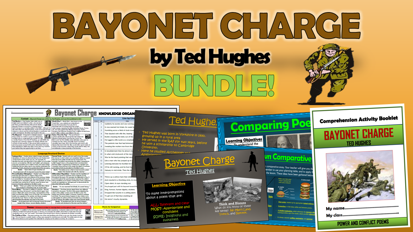 Bayonet Charge - Ted Hughes - Bundle!