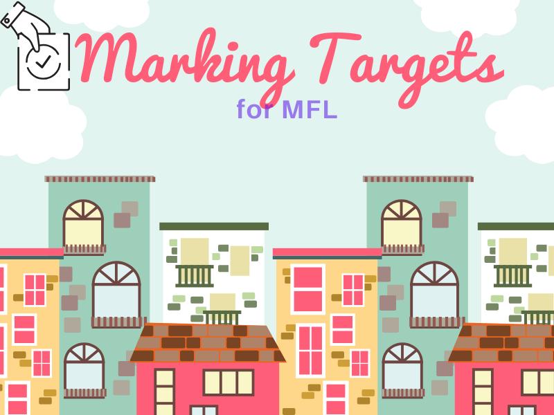 Marking targets for MFL