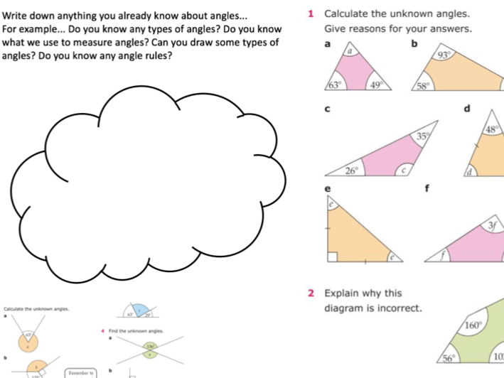 Angles Workbooks (Middle to Low Ability KS3)