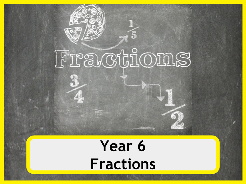 Year 6 Fractions Worksheets