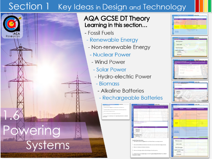 AQA GCSE DT 1.6 Powering Systems