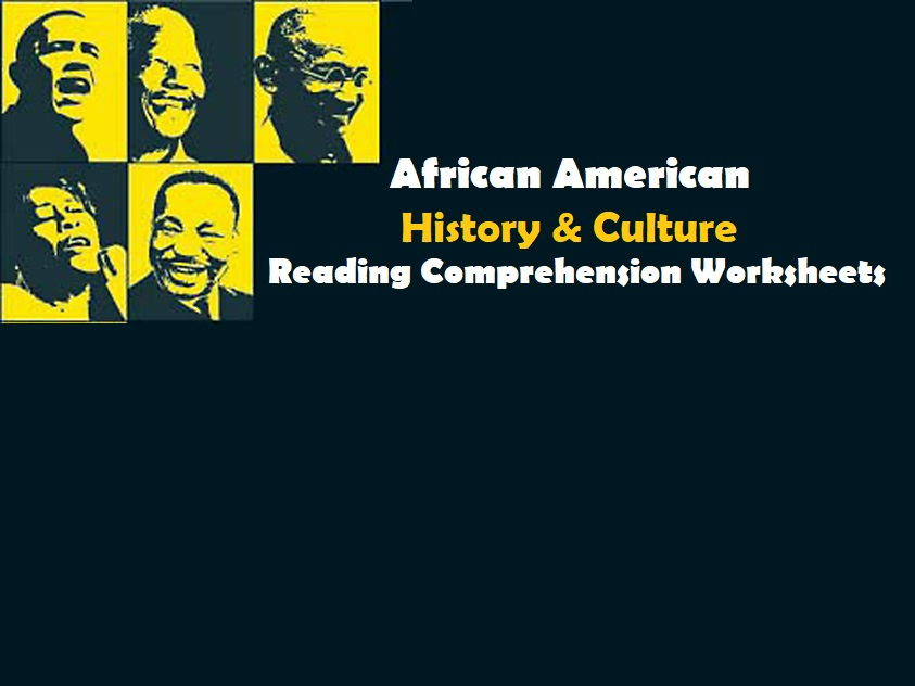 African American American History & Culture - Reading Comprehension Worksheets / Texts (SAVE 40%)