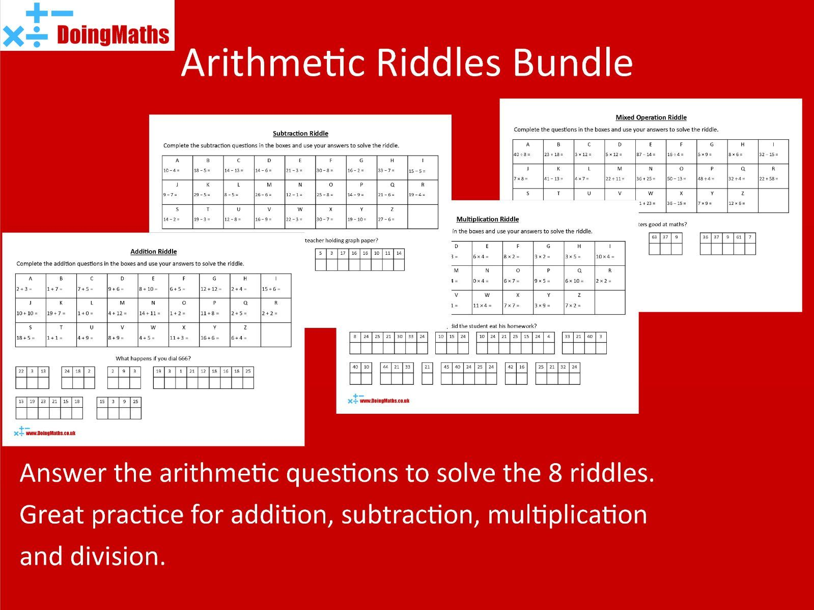 Arithmetic Riddles Bundle