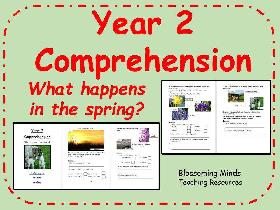Year 2 comprehension - what happens in the spring?